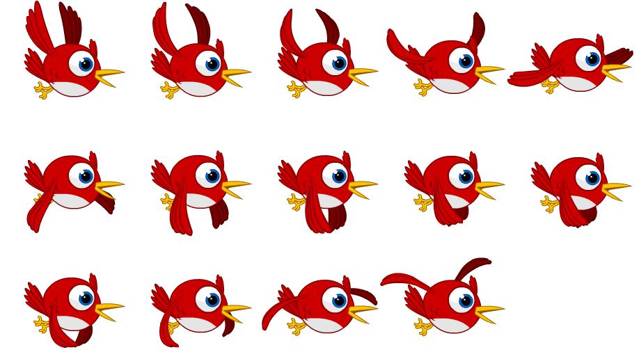 Animation sheet птицы