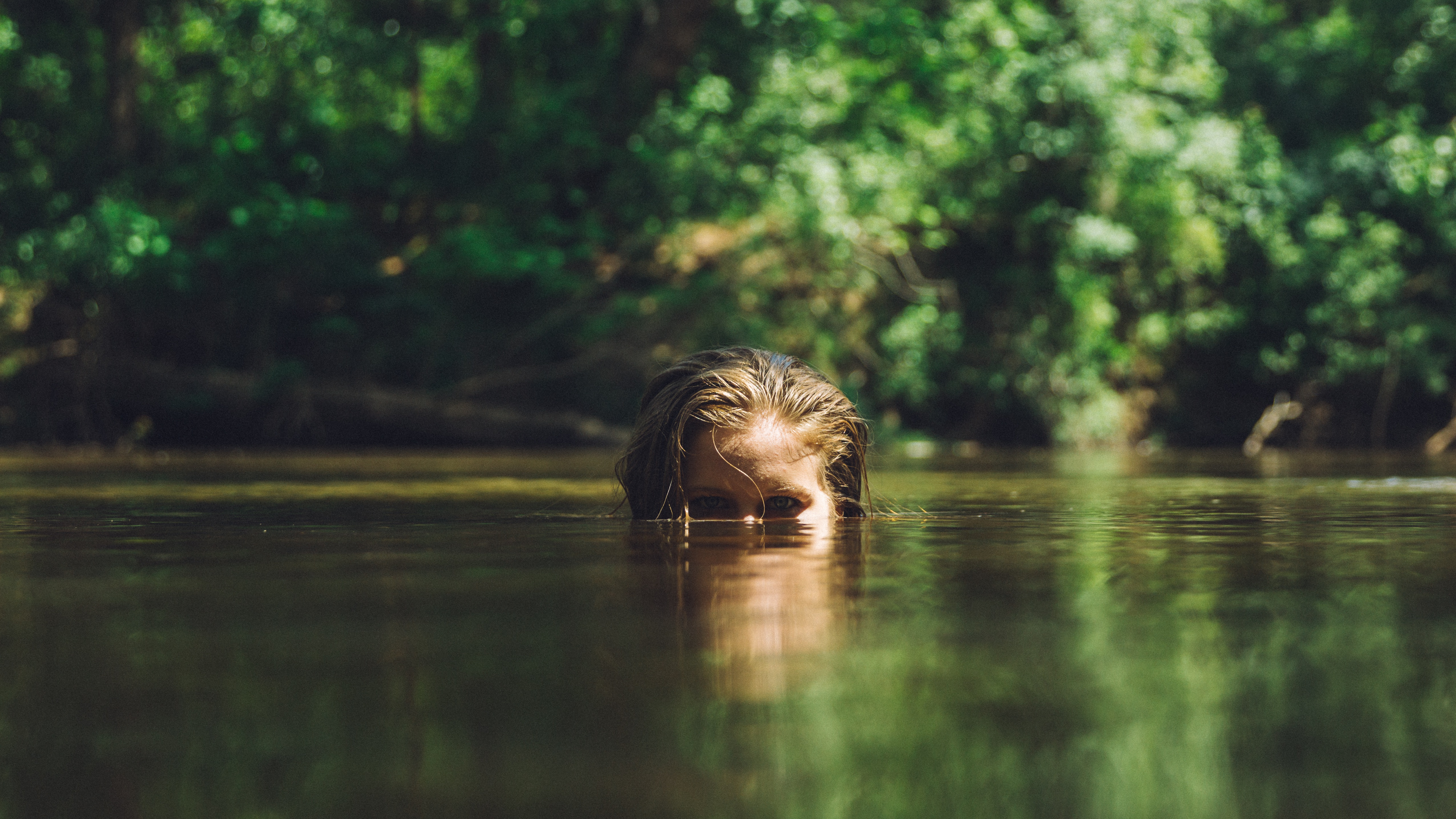 как сделать фото наполовину в воде