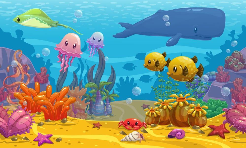 Мультяшный подводный мир