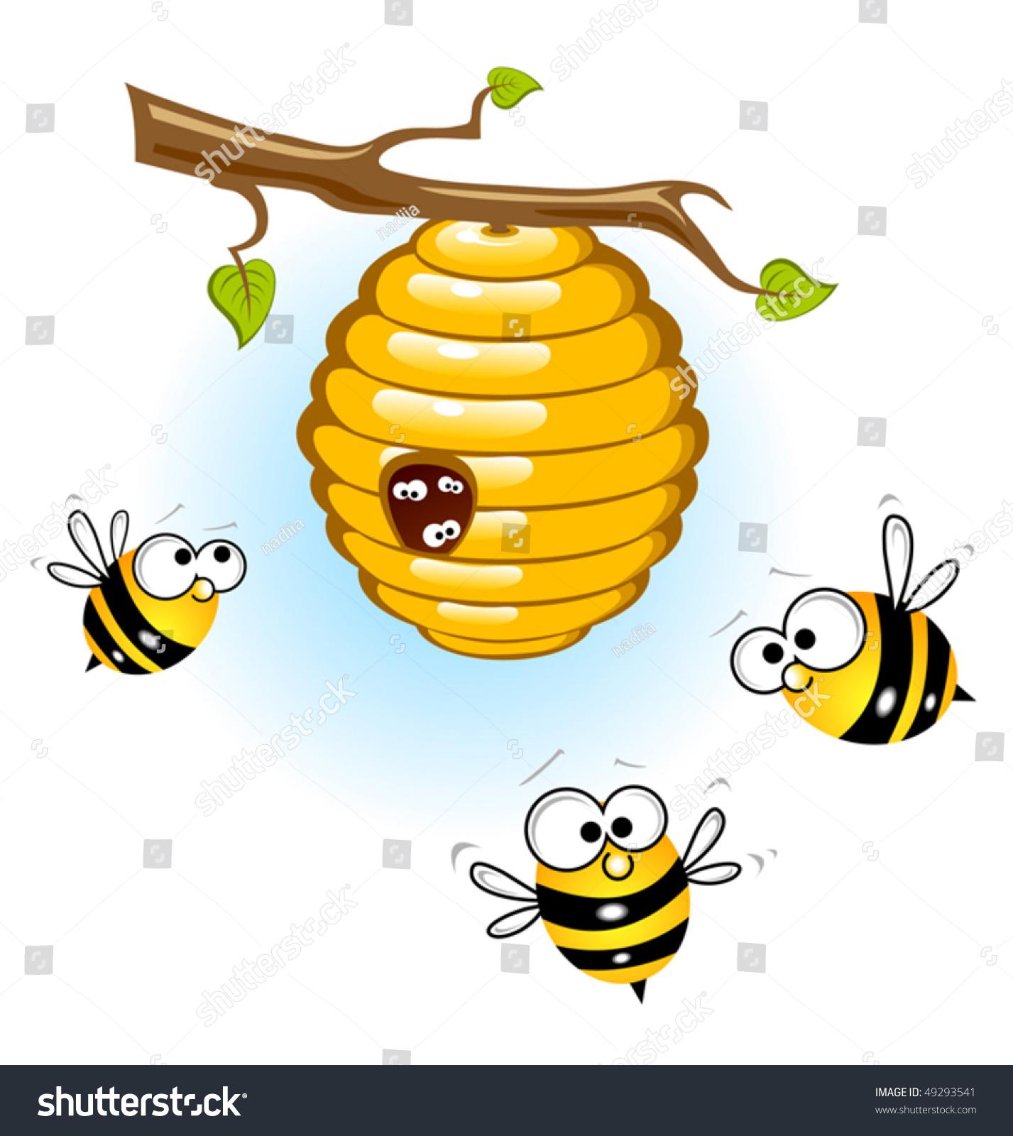 пчелы, улей, ветка