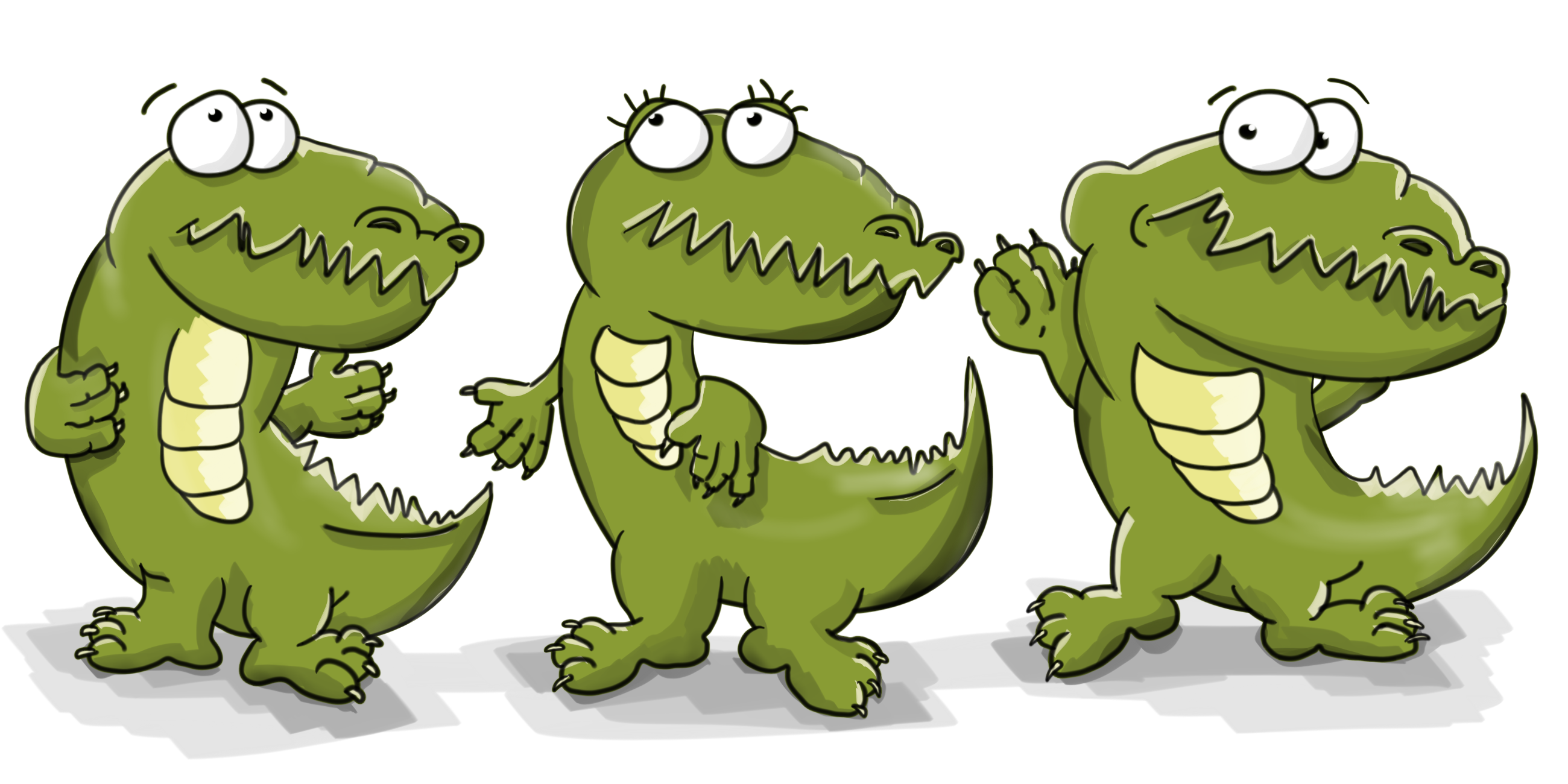 Крокодилы танцуют
