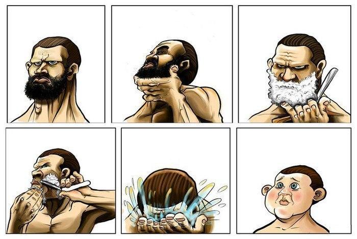 Сбривая бороду