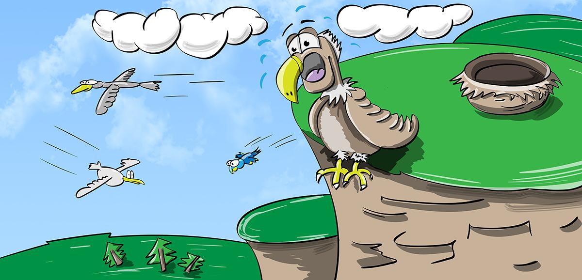 орел, гора, летать, птицы, небо, собой, быть