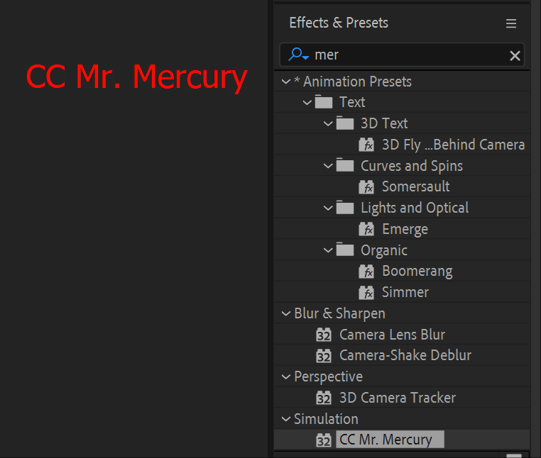 CC Mr. Mercury