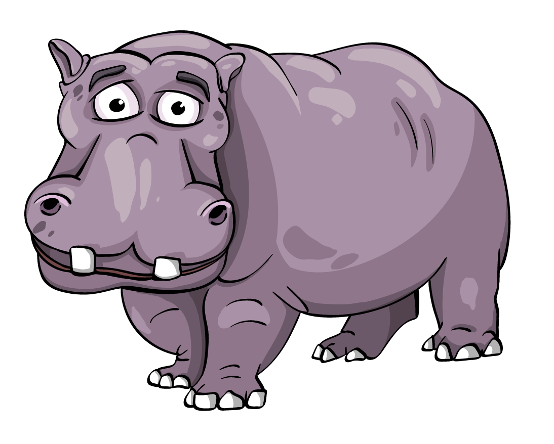 Animated hippo