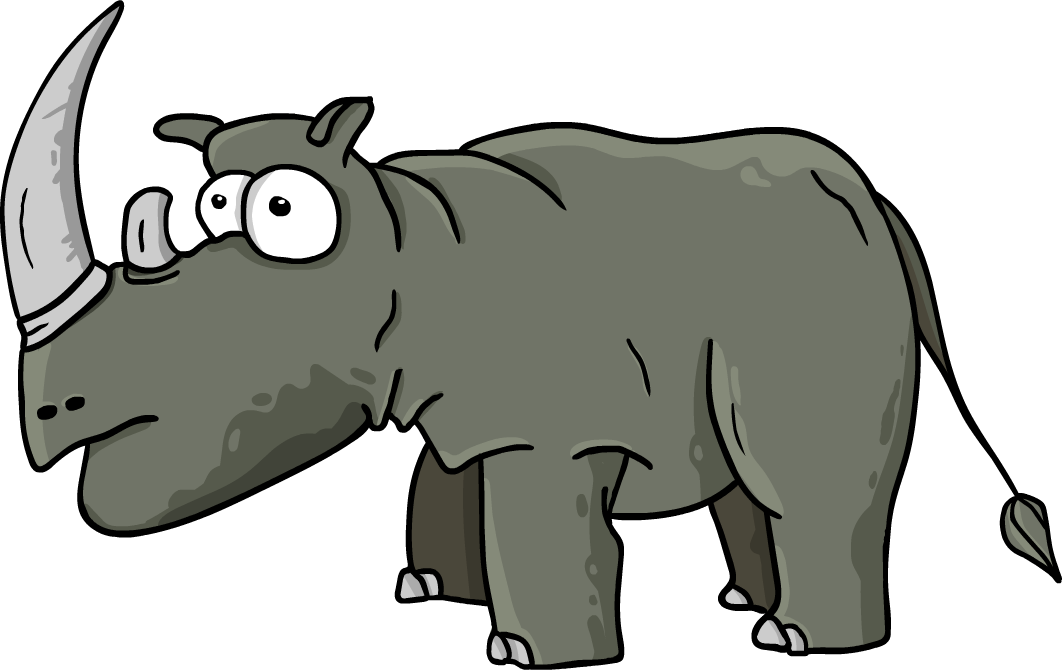 Animated hippo vector