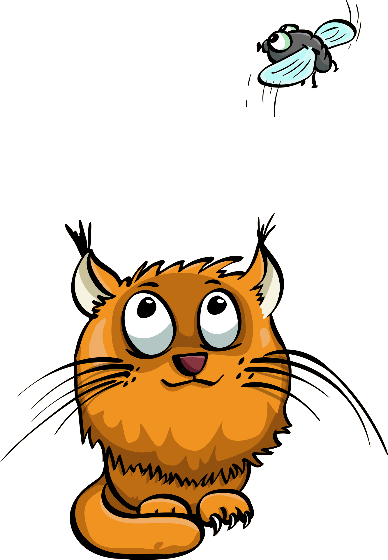 Funny ginger cat, clipart